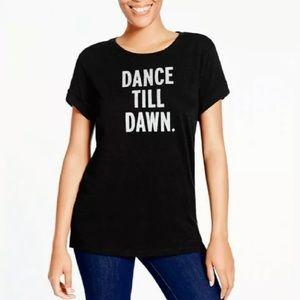 NWT Kate Spade Dance TIL Dawn Black Tee